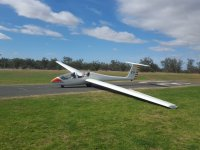 Glider for flight without engine