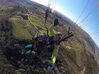 Grabando el vuelo en parapente en Montijo