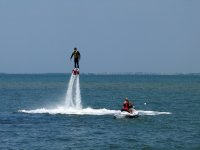 Enjoying a flyboard experience