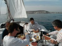 Eating on the high seas