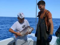 Salida de pesca con niños