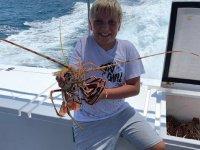Pesca de langostas desde la Bahía de Palma