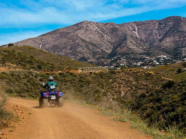 Ruta en quad con vistas al Pico de Mijas