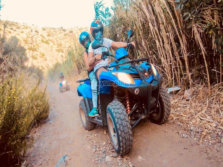 Ruta guiada en quads en Málaga