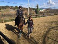 在赛道上用马