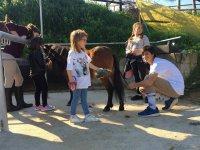 Preparando los caballos