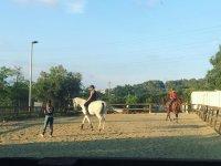 En las clases de equitacion