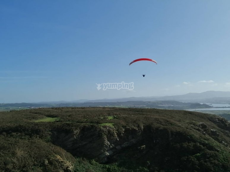 Parapente biplaza Playa Xago