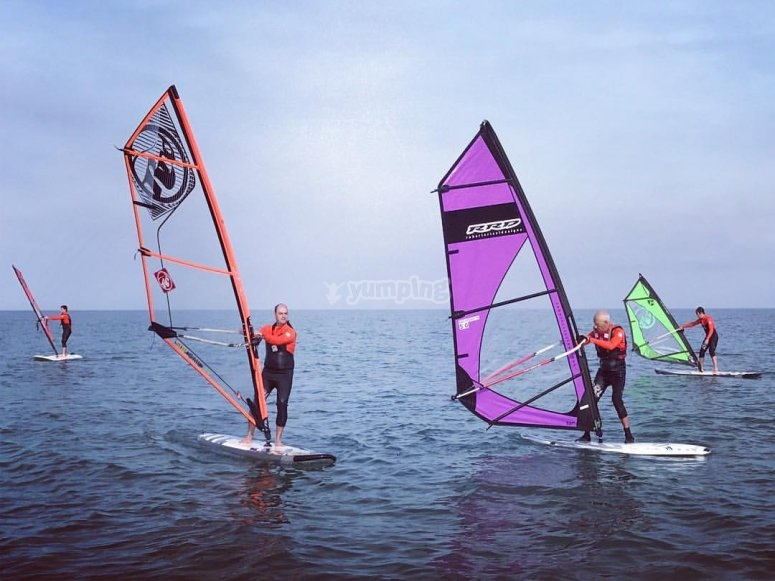 Sesion de windsurf