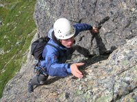 Bautizo练习攀岩的天然攀岩