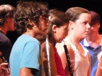 Tocando la flauta