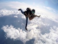 Free fall from the plane