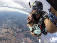 降落伞上最大肾上腺素的瞬间