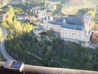 Vistas del alcazar desde el globo en Segovia