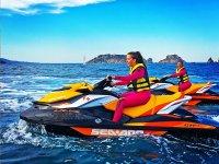 Ruta en moto de agua por Castelldefels