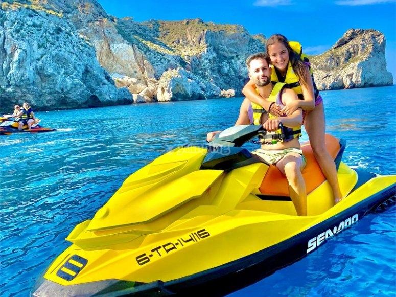 Salida en moto de agua por Castelldefels