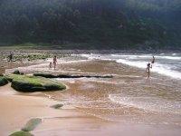Bajando a la playa