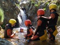 Percorso di canyoning del fiume Vallegón ad Amieva 4h