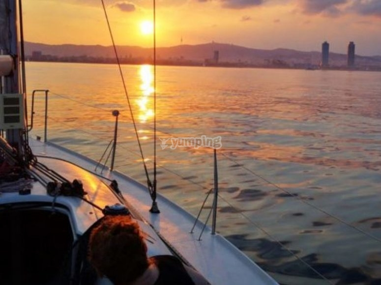 Salida en velero por Cádiz