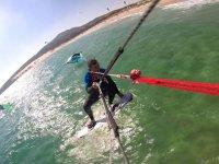 Grabando el kite