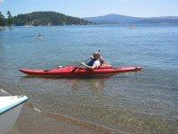 canoa en la playa