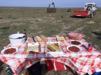 Lunch after the balloon flight