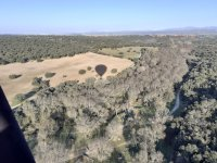 Balloon flight through the park of the middle course of the Guadarrama river