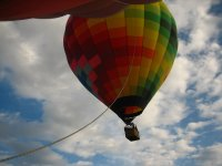 Taking off from our balloon ride
