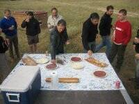 Picnic after the balloon flight