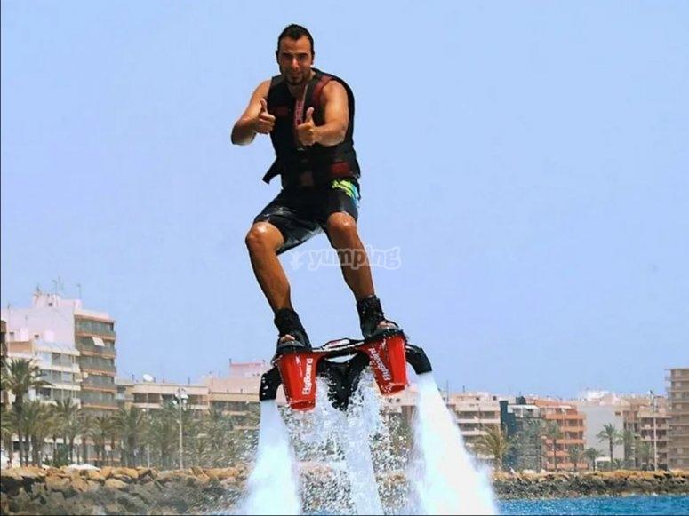 Prova il flyboard ad Alicante