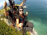 Paragliding over the coast