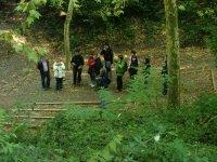 En el bosque con el grupo