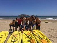 Preparando la ruta en kayak