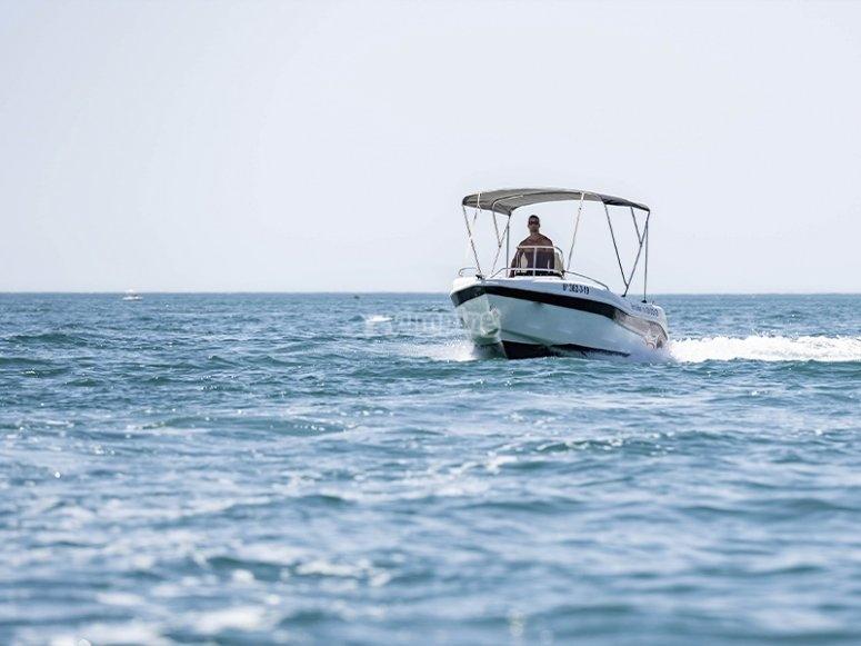 Barco de alquiler en Fuengirola