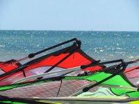 El material para windsurf