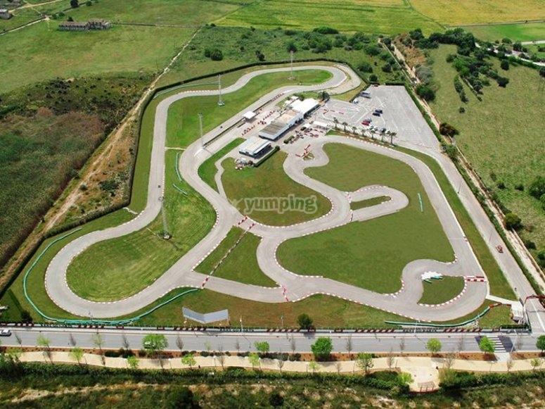 Karting circuit in Magalluf