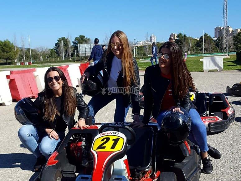 Karting round in Mallorca