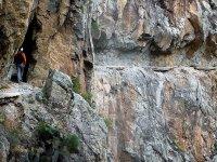 的铁索攀岩东部比利牛斯山的楼梯