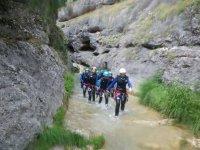 Saliendo de un tramo del rio