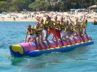 Rumbo mar adentro con la banana boat