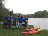 Farewell in canoes