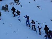 Ascension con raquetas de nieve