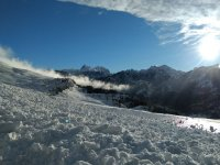 Nieve acumulada en las cumbres