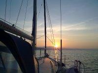 Atardeceres increibles sobre el mar
