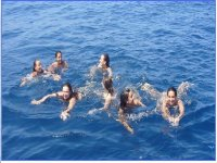 Un bano en medio del mar
