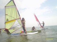Subida en la tabla de windsurf