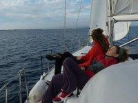 relajandonos en alta mar