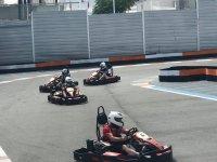 Compitiendo en el karting de Benidorm