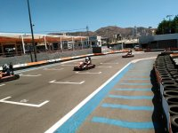 Paso por salida en karting de Benidorm