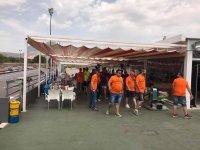 Terraza bar del karting en Benidorm